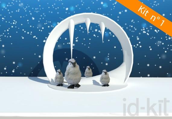 Kit n° 1 - Ilot Arche + Pingouins