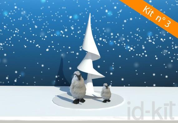Kit n° 3 - Sapin spirale + Pingouins